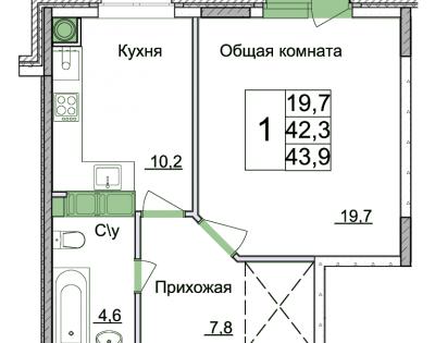 1к ул. Космонавтов д.15