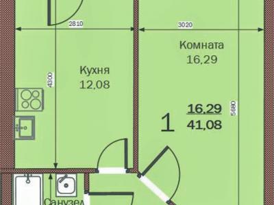 1к ЖК Прибрежный